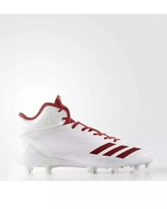 e9c3be785c1 NEW Adidas Adizero 5-Star Mid 6.0 Football Cleats Size 15 White Red ...