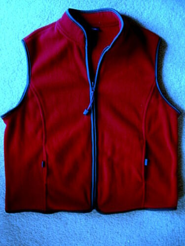 Beautiful Warm CATALINA Dark Red Fleece Vest - S /