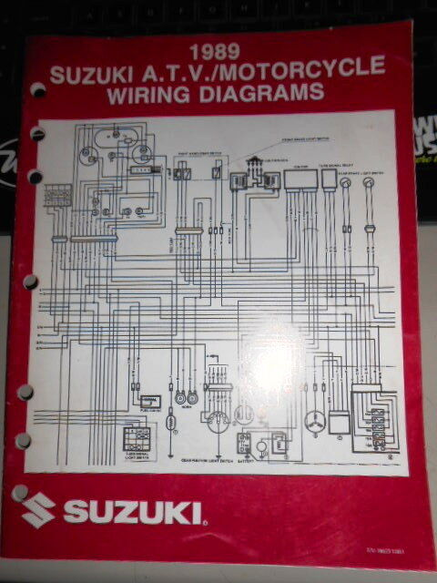 Suzuki Atv Motorcycle Wiring Diagrams 1989