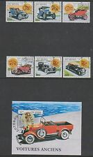 Benin - 1997 Motor Cars set & sheet - F/U - SG 1645/50, MS1651 (a)