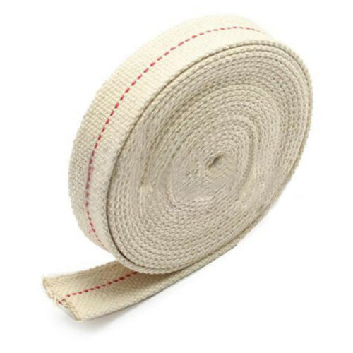 1m 2cm Feet White Flat Cotton Alcohol Wick For Glass Oil Lamps and Lanterns Hot