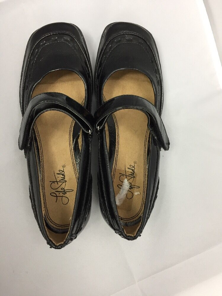 Life Stride Jane Dominique Black Patent Mary Jane Stride Ladies Shoes 6 Medium 17788a