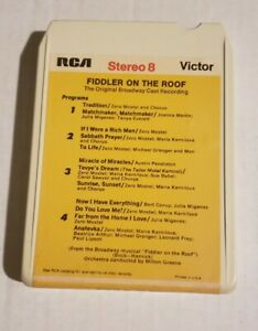"""8 Track Tape """"Fiddler On The Roof"""" the original broadway cast recording"""