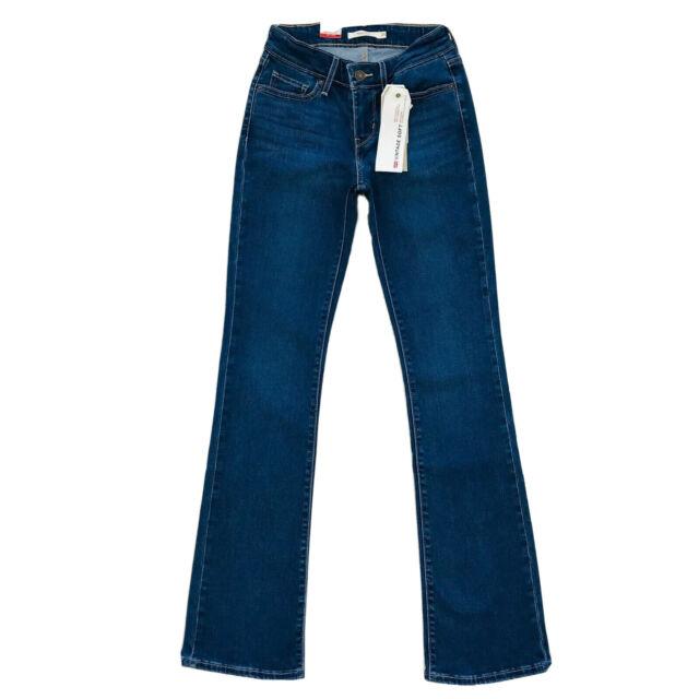 Levi's 715 Teenager Mädchen damen Bootcut Vintage Weich Blau Jeans Größe W25 L32