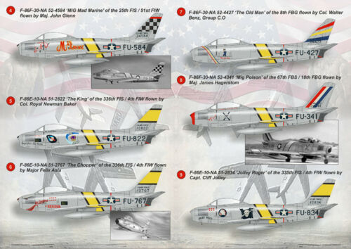 F-86E Sabre Mig killer World Print Scale 72-079 1//72 scale Decal for airplane