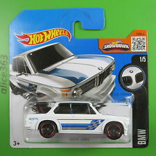 HOT WHEELS 2016-BMW 2002 BIANCO-BMW - 186-NUOVO IN SCATOLA ORIGINALE