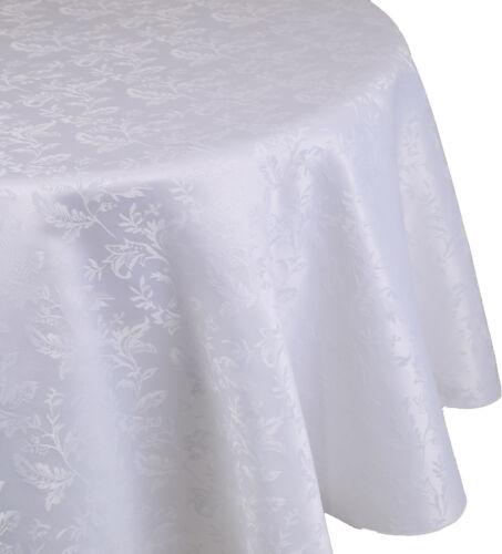 Betz Edle Jacquard Tischdecke Tischtuch Tischwäsche Dessin 21 Farbe weiß