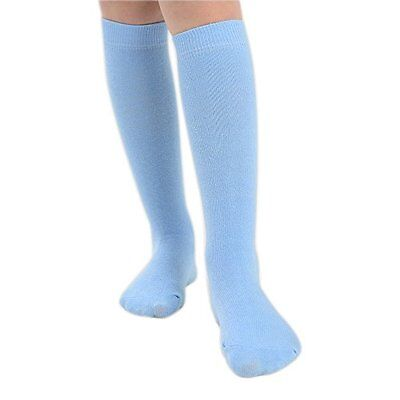 6 PAIRS GIRLS SCHOOL KNEE HIGH SOCKS 80/% COTTON 7 COLOURS 4 SIZES