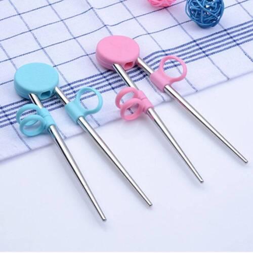 Stainless Steel Children/'s Learning Chopsticks Baby Training Utensils N