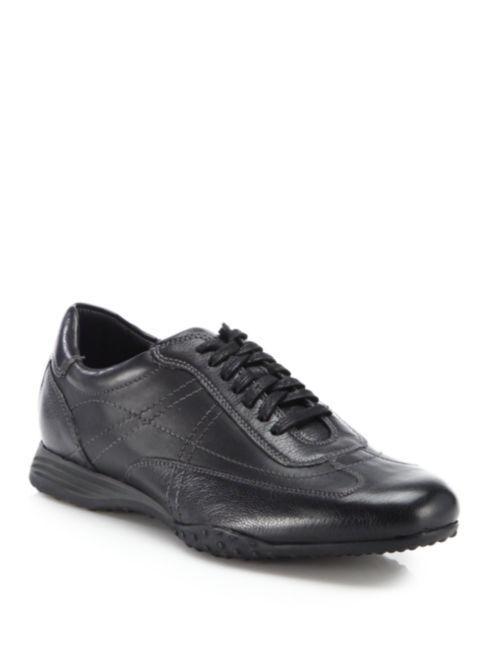 Nuevo En Caja Cole Haan Hombre Zapatos Zapatillas De Buey Granada Cuero Deporte Negro