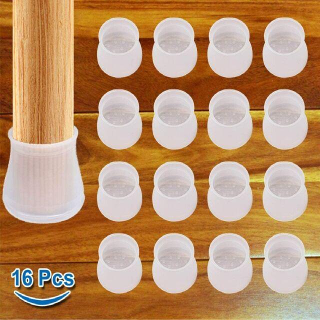 16 Pcs Floor Protect  Feet Pads Furniture Anti-slip Chair Leg Caps Table Covers