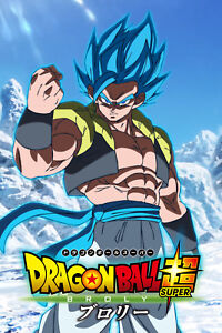 Details About Dragon Ball Super Broly Movie Gogeta Blue Fist Poster Half Body 12inx18in
