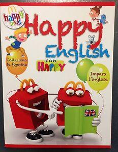 Happy English con Happy Album figurine MacDonalds 2013 completo di figurine - Italia - Happy English con Happy Album figurine MacDonalds 2013 completo di figurine - Italia