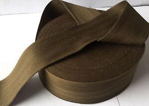 "50mm 2/"" ARMY GREEN Cotton Herringbone Tape Fabric sewing Bunting strap x 25Yard"