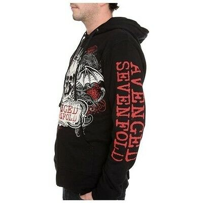 AVENGED SEVENFOLD A7X ORNATE SKULL ZIP HOODIE MUSIC M SHADOWS SWEAT SHIRT S-3XL