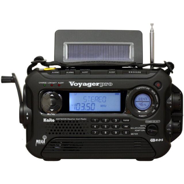 Kaito KA600 Solar Crank NOAA Weather Radio with AM FM Shortwave - Black