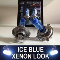 2X 12V 60/55W H4 BLUE TINT XENON HEADLIGHT MAIN BEAM BULBS