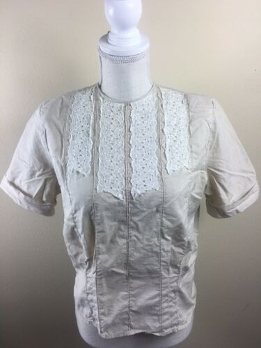 Vintage Textron Women's Fitted~Pleated Blouse Size