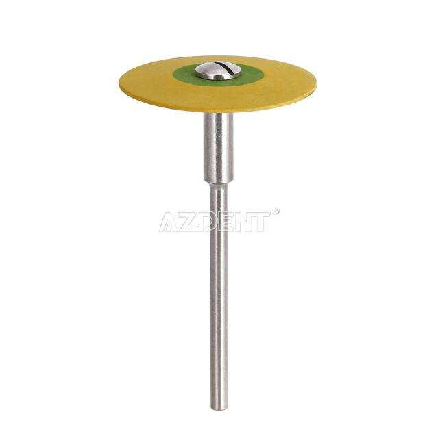 1X Dental Rubber Diamond Polisher Wheel Disc For Porcelain Yellow Extra 26mm