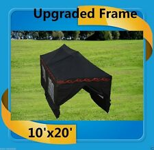 10'x20' Pop Up Canopy Party Tent EZ - Black Flame - F Model Upgraded Frame