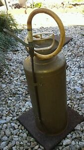Vintage Hudson Galvanized Metal Hand Pump Farm Lawn Garden Sprayer