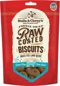 Stella-amp-Chewy-039-s-RAW-COATED-GRASS-FED-DOG-BISCUITS-Dog-Treats-9-oz-LAMB-USA