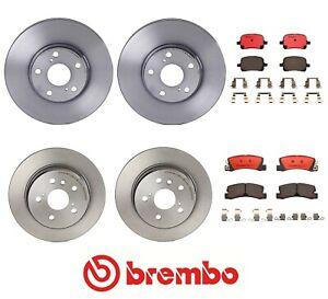 Front Brake Rotors /& Ceramic Pads For 1998 1999 2000 2001 Lexus RX300