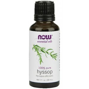 Hyssop (100% Pure), 1 oz - NOW Foods Essential Oils FAST SHIPPING