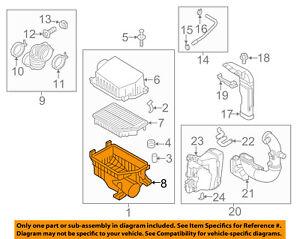 Engine Air Intake Resonator OEM For 06-11 Kia Sedona  281924D200