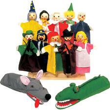 Goki Großes Handpuppen-Set Kasperle-Puppen Theater Puppentheater Puppenspiel NEU