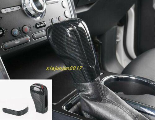 Carbon fiber Car Interior Gear Shift Knob Cover Trim For Ford Explorer 2016-2019
