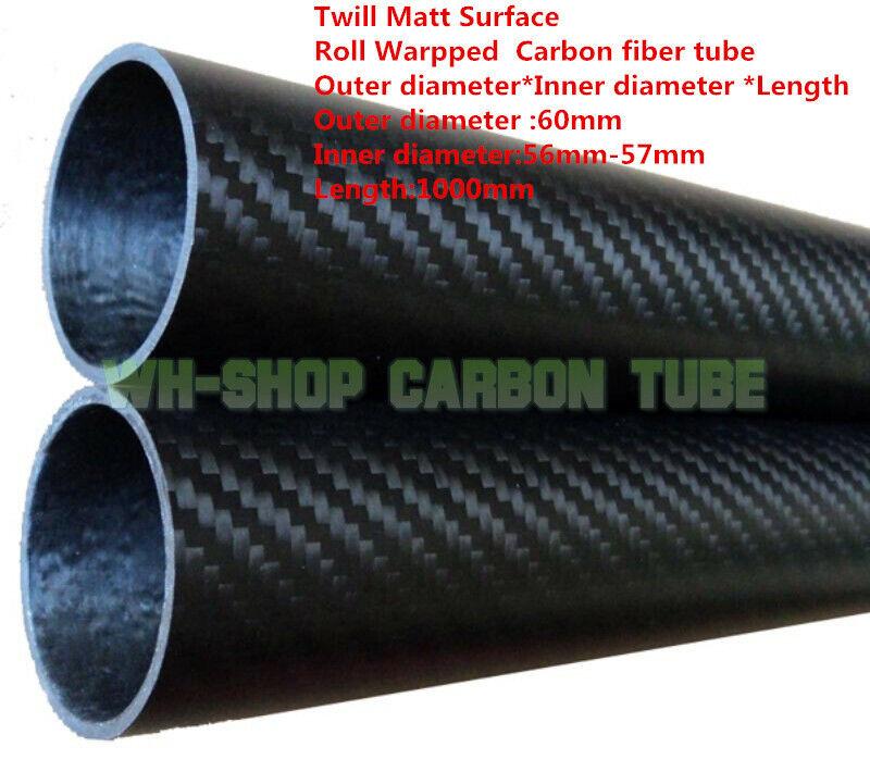 3k  autobon Fiber Tube OD60  ID 56mm 57mm Roll Wrapped  X L1000mm  migliore offerta