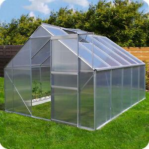 gew chshaus inkl fundament garten pflanzenhaus alu treibhaus tomatenhaus 6mm ebay. Black Bedroom Furniture Sets. Home Design Ideas