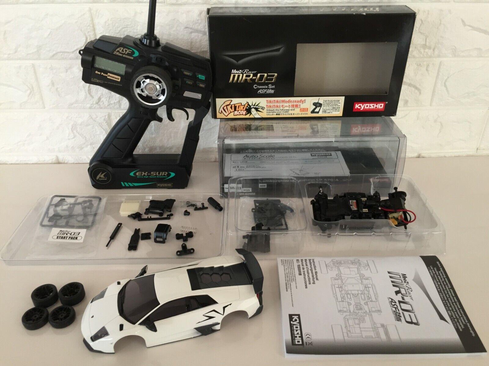 Used Rare Kyosho MINI-Z Racer  READYSET corpo, chassis e Propo  from Japan  promozioni di squadra