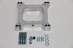 "3//8/"" Open Square Aluminum Carburetor Spacer Fits Edelbrock Holley SBC BBC Chevy"