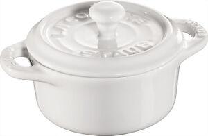 Zielsetzung Staub Keramik 6 Er Set Mini Cocotte Rund Weiß 10 Cm Auflaufform Souflee-form Sparen Sie 50-70% Backbleche & -formen Kochen & Genießen