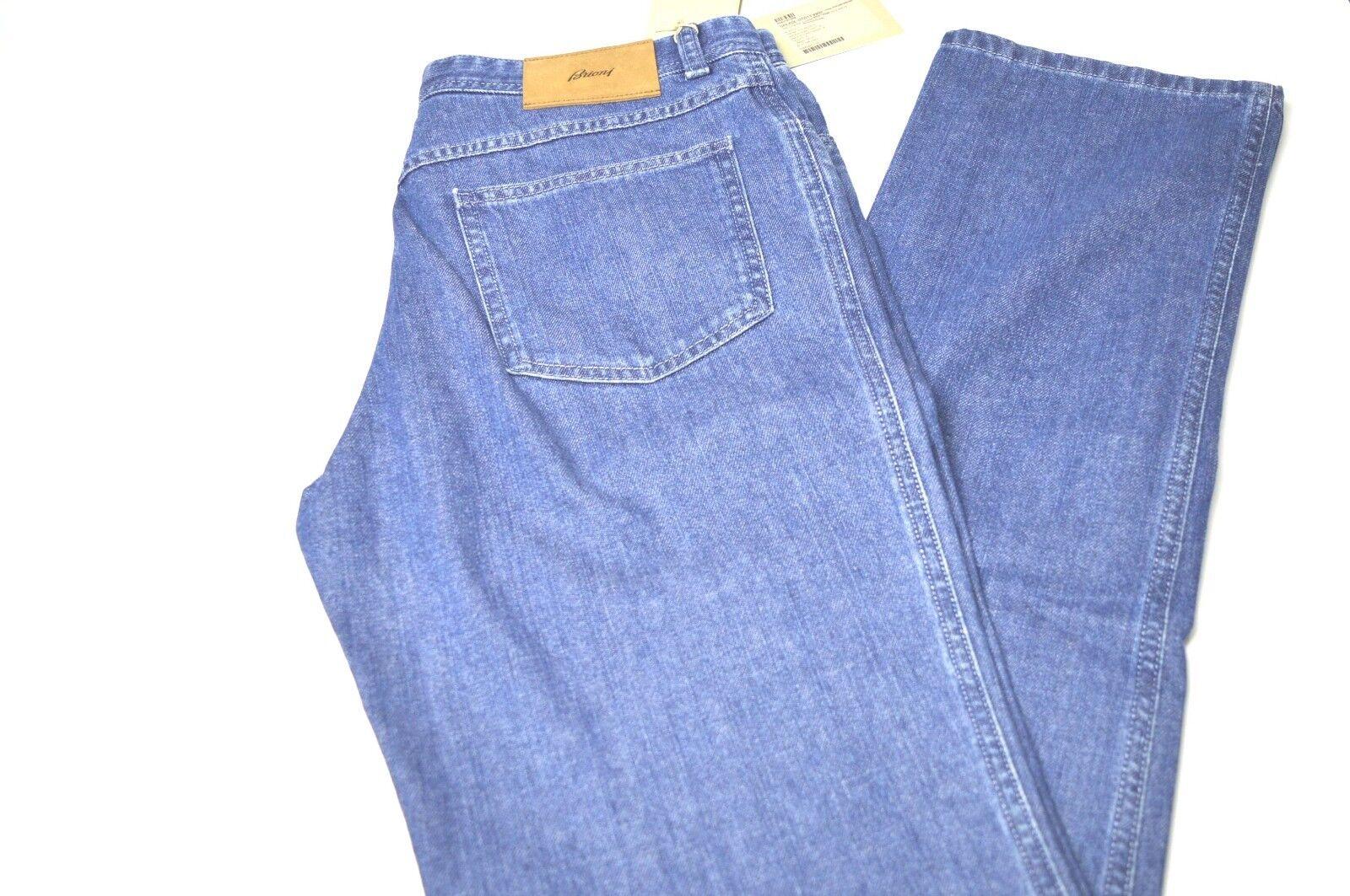 NEW BRIONI Jeans -CHAMOIX 4900- 100% Cotton Size 38 Us 54 Eu