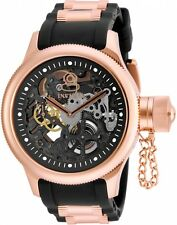 17267 Invicta 52mm Russian Diver Mechanical Stainles Steel Rose-Tone Strap Watch