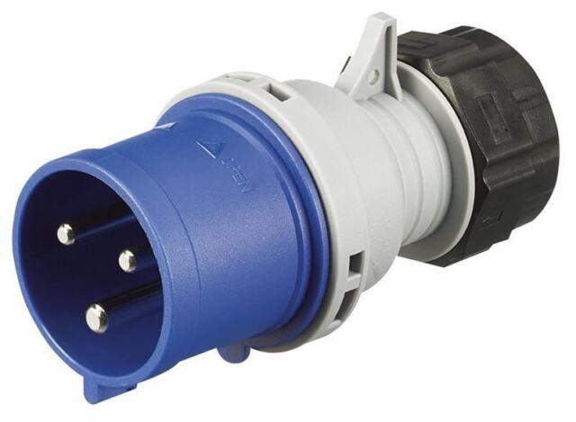 MK (ELECTRIC) - 32A 2P+E 250V Commando Plug, IP44 Blue