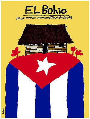 679.Poster,The Hut.Shack.BOHIO.Cuba Landscape.Decor.interior Home Design