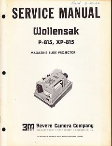 wollensak service manual model p 815 magazine slide projector rh ebay com Film Projector Manual Ceiling Mount Projector Screen