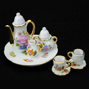 8x-1-6-Dollhouse-Miniature-China-Porcelain-Tea-Set-For-Barbie-Philip-doll-decor