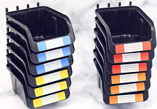 Pegboard Bins Kit 12 Pack Black Pegboard Parts Storage Tool Peg Board Workbench