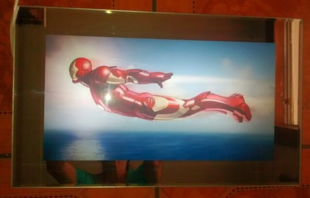 Iron Man 3d Art in Motion Electronic Kids Table Wall Art Room Light ...