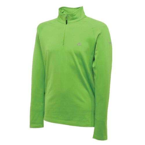 Dare2b Mens Fleece Fuseline Half Top Zip Stretch Cycling Sports Fit Energy Green