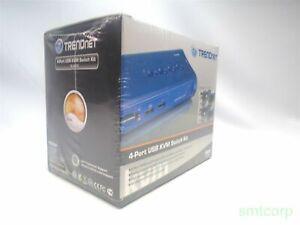 New-TRENDnet-4-Port-KVM-Switch-Kit-TK-407K-with-cables-Unused-BT