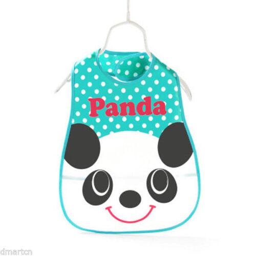 EVA Baby Bibs Waterproof Easy Clean With Front Packet Bus Pigy Panda Elephant BN