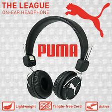 Puma THE LEAGUE Lightweight Stereo Headphones w/ Detachable Tangle Free Cord