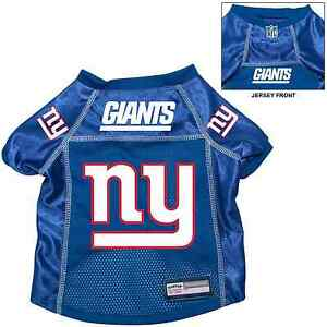 hot sale online 4e068 acb52 Details about NEW NY YORK GIANTS PET DOG PREMIUM NFL ALTERNATE JERSEY  w/NAME TAG BLUE