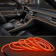 2M Orange EL Wire Car Interior Decor Fluorescent Neon Cold Strip light Fit Jeep